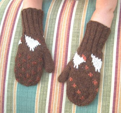 chicken                   tracks mittens