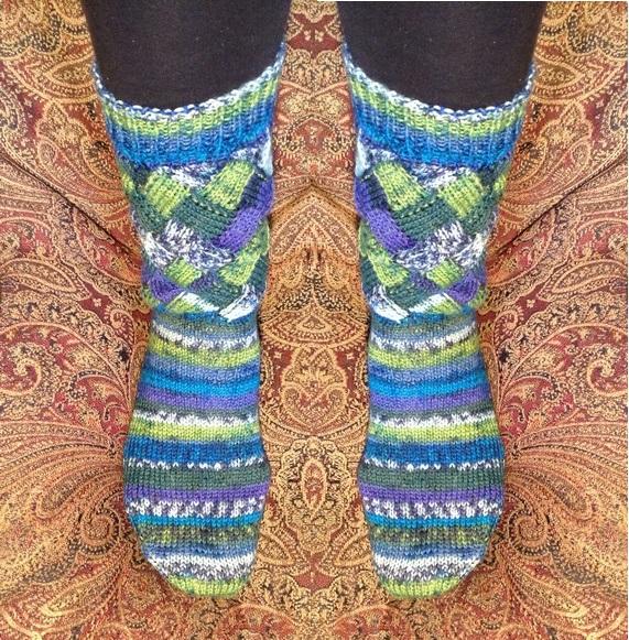 countrywool entrelac socks