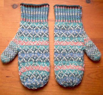 Countrywool Fair Isle Shaded Mittens