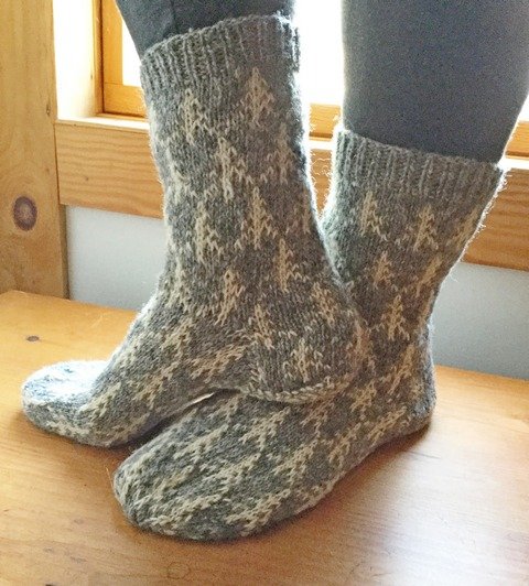 Countrywool Solstice Tree Socks